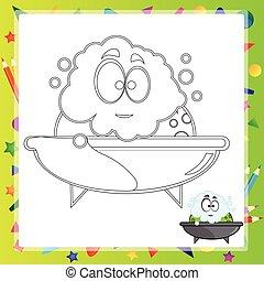 illustration of Cartoon frog