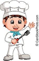 Cartoon funny chef