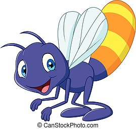 Cartoon funny firefly - Illustration of Cartoon funny...