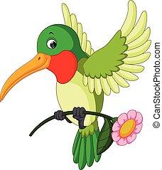 Cartoon funny hummingbird - illustration of Cartoon funny...