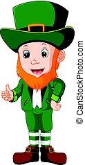 Cartoon funny leprechaun