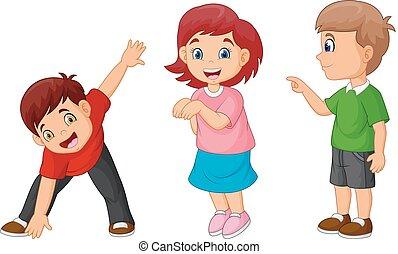 Cartoon happy childrens