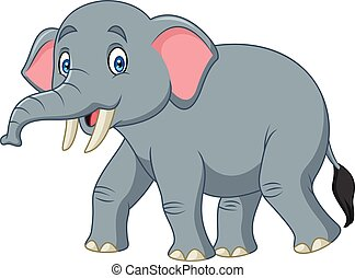 Cartoon happy elephant