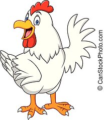 Cartoon happy hen