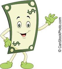 Cartoon happy money isolated on white background