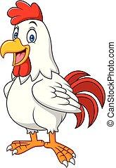 Cartoon happy rooster
