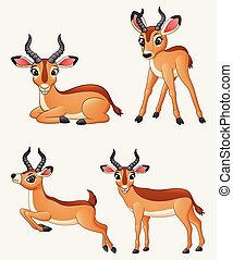 Cartoon impala collection set
