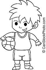 illustration of Cartoon kids sports characters