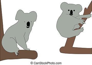 cartoon koalas
