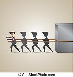 cartoon leadership businessman - illustration of cartoon...