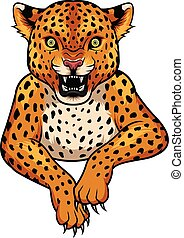 Cartoon Leopard mascot