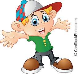 cartoon little boy