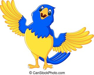 Cartoon macaw - illustration of Cartoon macaw smile