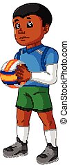 Cartoon male Volleyball Player