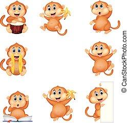 Cartoon monkey collection set