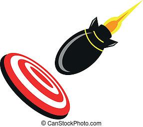 illustration of cartoon rocket