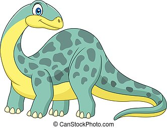 Cartoon smiling brontosaurus