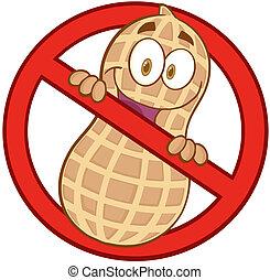 Cartoon Stop Peanuts Sign
