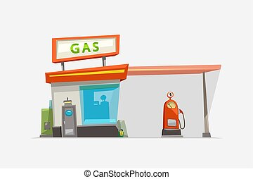 gas station isolated on white