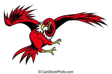 illustration of Cartoon vulture for sign or sport team