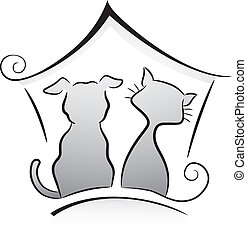 Cat and Dog Shelter - Illustration of Cat and Dog Shelter...