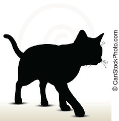 illustration of cat silhouette