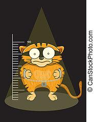 Illustration of cats prisoners were captured