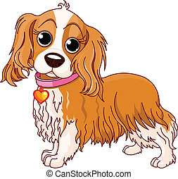 Cavalier King Charles Spaniel - Illustration of Cavalier...