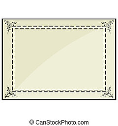 certificate frame - illustration of certificate frame