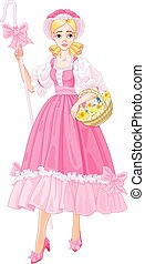 Charming Shepherdess - Illustration of Charming Shepherdess...