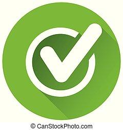 check mark green circle icon