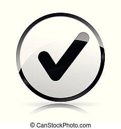 check mark icon on white background