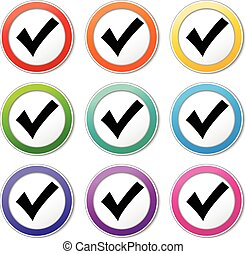 check mark icons - Illustration of check mark icons various...