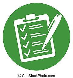 checklist green circle icon