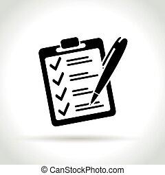 checklist icon on white background