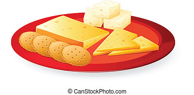 cheese biscuits in plate - illustration of cheese biscuits ...