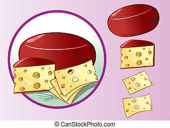 Cheese with cheese slices