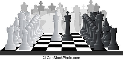 Illustration of chess game.