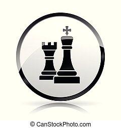 chess icon on white background
