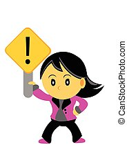 Illustration of Chibi Woman Cartoon Character in Activity