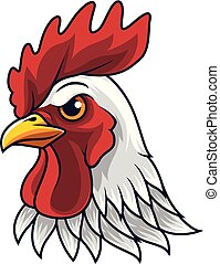 Chicken rooster head mascot - illustration of Chicken...