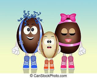 chocolate eggs cartoon - illustration of chocolate eggs...