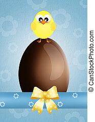 chocolate eggs - illustration of chocolate eggs