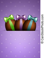 chocolate eggs for Happy Easter - illustration of chocolate...