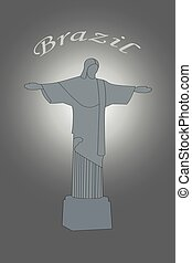 Illustration of Christ the Redeemer statue in Brazil