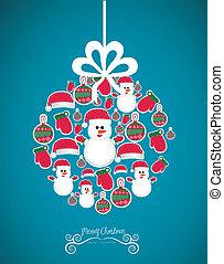 Illustration of christmas balls