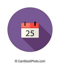 Christmas Calendar Flat Icon