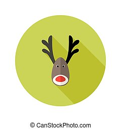 Christmas Deer Flat Icon
