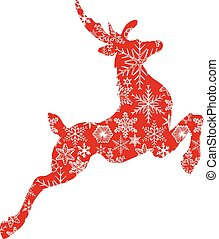 illustration of christmas deer
