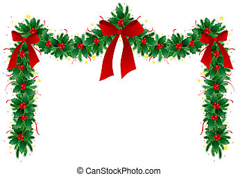 Illustration of Christmas garland